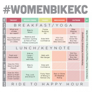 Women's Bike Summit 2015 Schedule