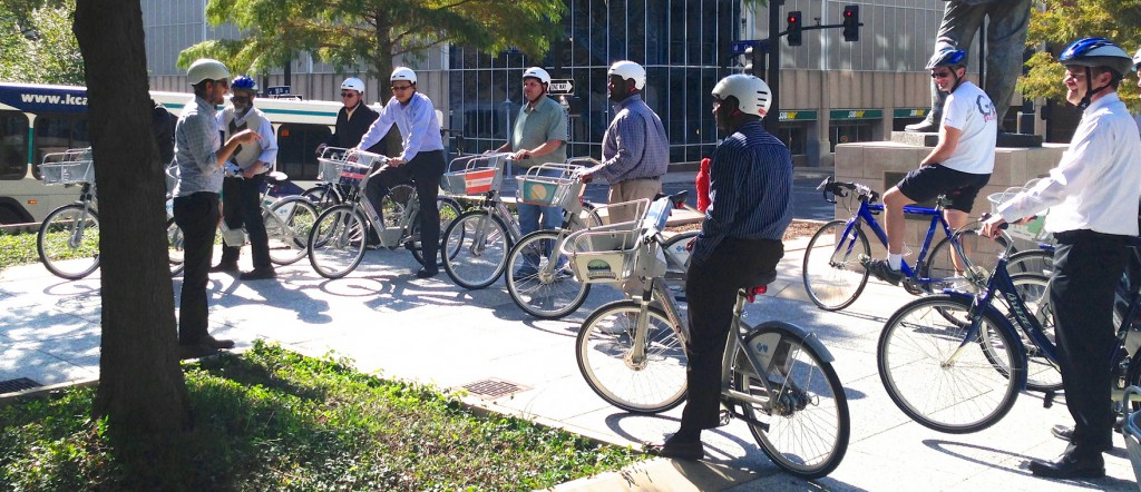 Local transportation engineers and planner seeing the world from a cyclist's perspective