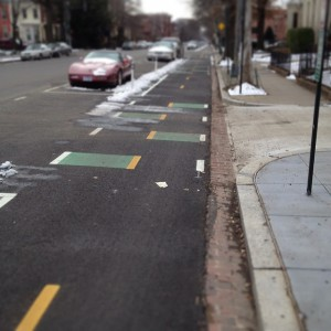 A 2-way Protected Bike Lane in Washington, DC