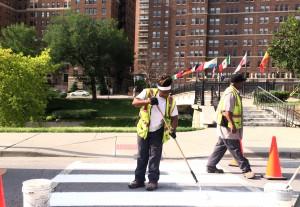 Public Works' new Crosswalk Crew