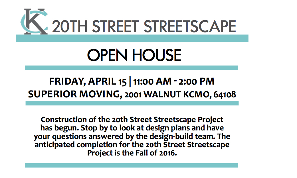 Learn About The 20th Street Streetscape Project In KCMO On April 15th