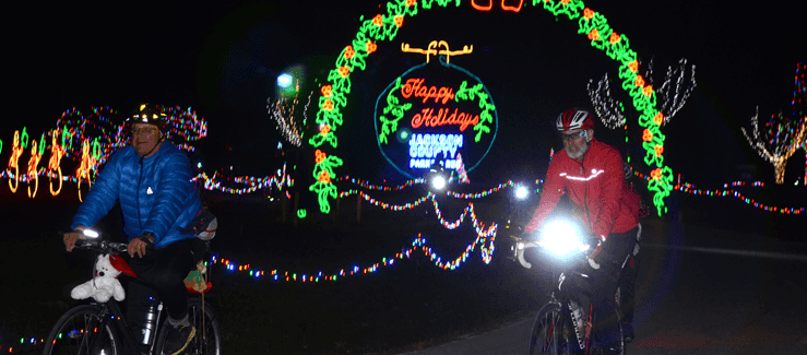 trip the light fantastic night ride through christmas in the park