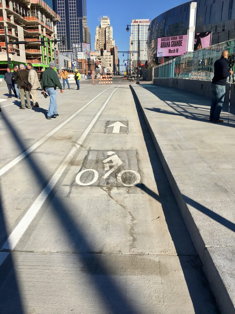 Northbound buffered bike lane