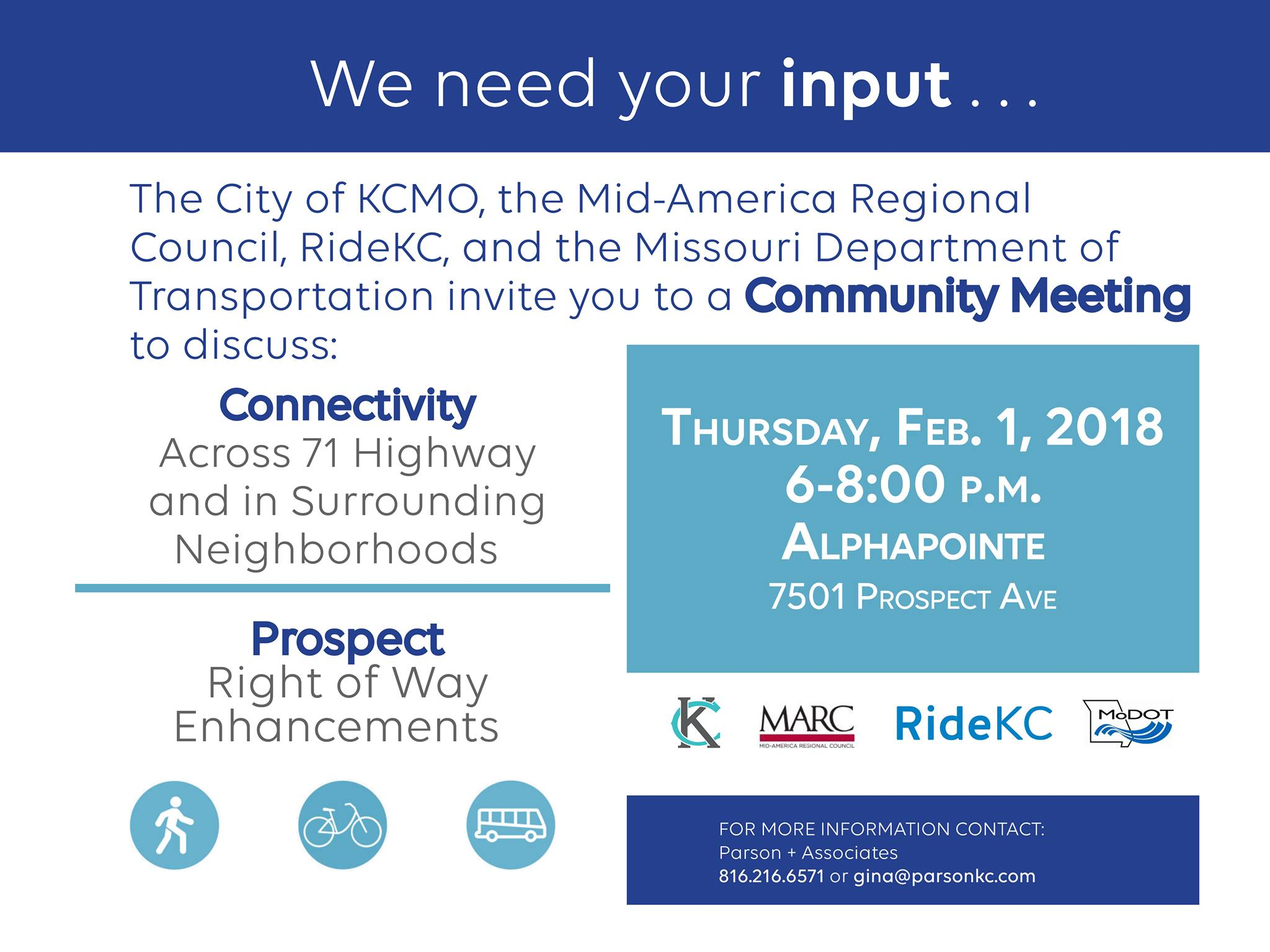 Join MARC BikeKC RideKC The City Of KCMO And MoDOT KC For A Joint Community Meeting Two Planning Sustainable Places Projects Connecting Swope